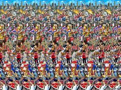Magic Eye--Sometimes it helps to get right up close and then back away in order to see them. 3d Hidden Pictures, Hidden 3d Images, Magic Eye Pictures, 3d Pictures, 3d Stereograms, 3d Maze, Eye Illusions, Illusion Pictures, Eye Tricks