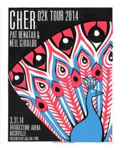 Cher Tour Poster, Serigrafie von Print Mafia bei AllPosters.de
