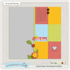 Free Digital Scrapbook Template! {Limited Time Only} (And there's a Storybook version)