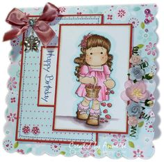 Magnolia Tilda Flower Girl Birthday Card - 9 Sep 2012