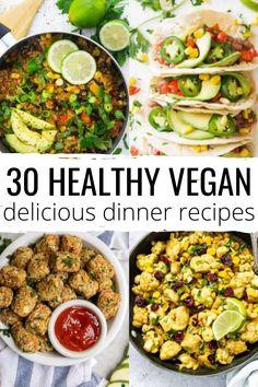Vegan Dinner Recipes, Delicious Vegan Recipes, Vegan Dinners, Veggie Recipes, Whole Food Recipes, Vegetarian Recipes, Cooking Recipes, Healthy Recipes, Diet Recipes