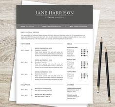 Word Resume Template 2007 Dots Simple Modern Unique Resume Template For Microsoft Word & Apple .