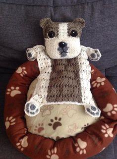 Bulldog Puppy Blankie Crochet Pattern // by JennaWingateDesigns