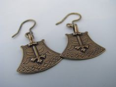 Jewelry with connection to the northeastern Finland, the Kainuu county | Deadstock Kalevala Koru Axe of Kuusamo Bronze Earrings
