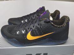 on sale b2925 20a60 Mens Nike Kobe XI 11 Carpe Diem 836183-015 Black Gold Basketball Shoes Size  13
