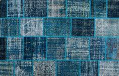Vintage Patchwork Teppich - mozaiik Unikat Nr. 62TP