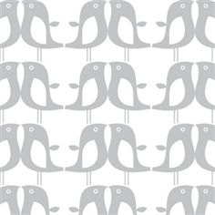 The Modern Baby - ISAK Penguins Wallpaper - Silver / White Keegs room accent wall keegs-future-room Silver Wallpaper, Home Wallpaper, Nursery Wallpaper, Decoration Design, Decor Interior Design, Graphic Design Pattern, Pretty Patterns, Little Girl Rooms, Textile Patterns