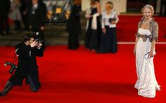 Footage from the Bafta red carpet at the Royal Opera House in London