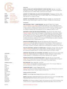 Resume of Rachel Gogel, graphic designer from CV Parade
