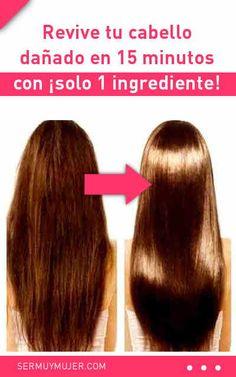 Revive tu cabello dañado en 15 minutos con ¡solo 1 ingrediente! Beauty Care, Beauty Hacks, Hair Beauty, Cabello Hair, Damaged Hair Repair, Monat Hair, Hair Growth Tips, Brunette To Blonde, Hair Blog