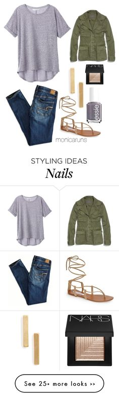 """9.12.15"" by monicaruns on Polyvore featuring Madewell, Essie, Steve Madden, American Eagle Outfitters, Topshop and NARS Cosmetics"