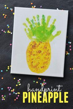 Handprint Pineapple Keepsake