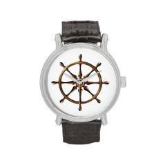 Rudder Ship Boat Wrist Watch