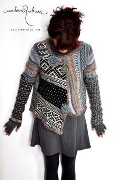 upcycled sweater asymmetrical por miliaime en Etsy                                                                                                                                                                                 More