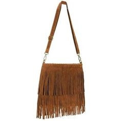 Yoins Brown Fringe Tassel Square Satchel