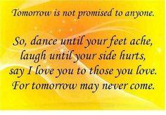 no promises...