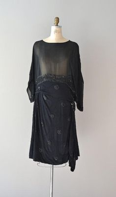 1920s dress with silk beading