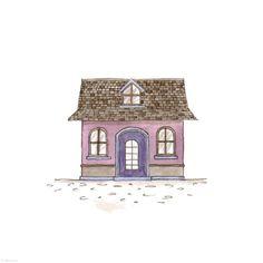 276. Lilac House  | Rebecca Horne, illustration