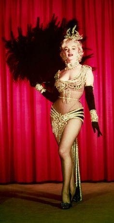 "Marilyn Monroe, costume test for ""Gentlemen Prefer Blondes"", 1952."