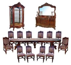~ Renaissance Revival Dining Set ~ | R. J. Horner | goantiques.com