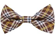 OCIA Boy's Cotton Plaid Design Handmade Bow Tie -TD18