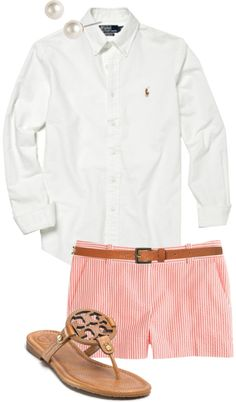 """Love this outfit! """"Seersucker & Tory"""" classically-preppy"""