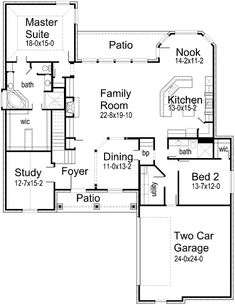 1000 images about u shaped ranch style house plans on for U shaped ranch style home plans