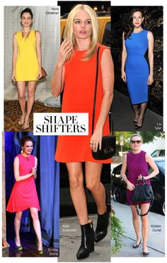 Bright Shift Dresses #trend #fashion #harpersbazaar #shift