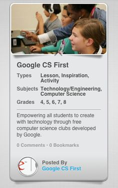 Welcome EdVOCAL's first resource partner: Google CS First! Learn how to introduce coding & computer programming through these FREE and easy to run clubs. Head on over to EdVOCAL.com to learn how to give all children access to computer science.