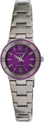 Women's Wrist Watches - Casio LTP1368D6A Womens Standard Analog Stainless Steel Purple Dial Watch * Learn more by visiting the image link.