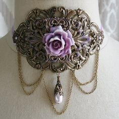 LAVENDER ROSE romantic Victorian inspired by TheVictorianGarden, $72.00