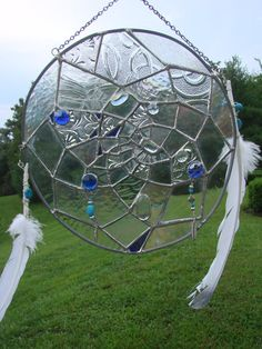 Stained Glass Dreamcatcher Panel by MountainDoves on Etsy, $175.00