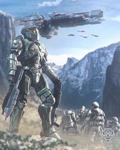 Halo Master Chief, Halo Game, Halo 3, Anime Expo, Space Marine, Unsc Halo, Halo Ships, Halo Spartan, Halo Armor