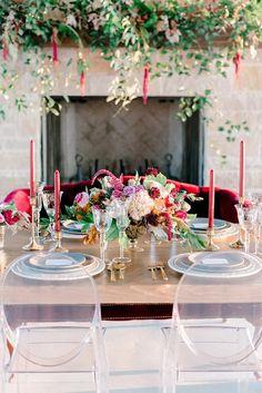 Elegant Al Fresco Wedding Inspiration from Cloud Creative Events Centerpieces, Table Decorations, Place Settings, Event Venues, Flourish, Fresco, Tabletop, Vineyard, Floral Design