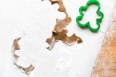 Gingerbread cookie-cutting