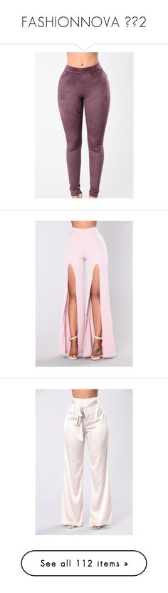 """FASHIONNOVA 💗➿2"" by bosslanaia ❤ liked on Polyvore featuring bottoms, pants, skinny dress pants, suit pants, pink dress pants, jogger pants, skinny jogger pants, dress pants, skinny suit pants and dress cargo pants"
