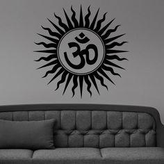 Om Peace Yoga Symbol Tribal Sun Wall Sticker Vinyl Mural Decal Home House Art Decor FREE SHIPPING L171
