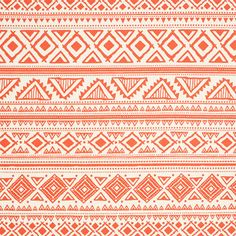 "Coral Aztec Glyphs on Ivory Ponte de Roma Fabric - Love this design!  Pretty coral orange aztec inspired ethnic design on a ivory, off white Ponte De Roma knit.  Ponte de Roma fabric is a thicker medium weight and has a nice stretch, excellent drape, and great recovery.   Fabric has a subtle horizontal texture.  Diamond row measure 2"".  Amazing designer fabric great for maxi skirts, dresses, tops, and more!   ::  $7.50"