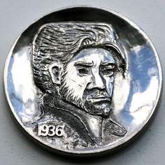 STEINAR FOSBACK - WOLVERINE - 193 BUFFALO NICKEL Hobo Nickel, Wolverine, Buffalo, Coins, Carving, Art, Art Background, Rooms, Wood Carvings