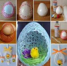 DIY Easter Egg Basket from Thread – Balloon 🎈 Decoration Diy Easter Decorations, Balloon Decorations, Easter Egg Basket, Easter Eggs, Diy Home Crafts, Crafts For Kids, Easter 2020, Diy Paper, Holiday Fun