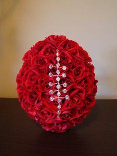 Football inspired floral arrangement flower arrangements designed red rose football inspired bouquet by how divine httphowdivine junglespirit Choice Image