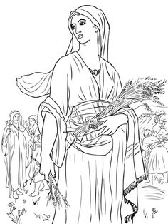 Ruth In The Fields Coloring Page From Misc Artists Category Select 24848 Printable Crafts Of Cartoons Nature Animals Bible And Many More