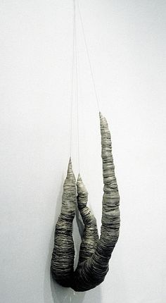 Anne Mudge | Crux | Stainless steel wire, fiber and pigment