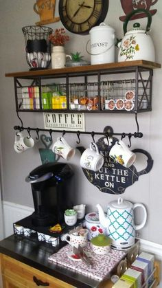 Outdated barn to the coffee barThe old barn will embellish a beautiful and functional DIY coffee great DIY coffee bar ideas for your cozy home / coffee shopSweet Coffee Station Ideas - Looking for Tea Station, Coffee Bar Station, Coffee Station Kitchen, Coffee Bar Home, Home Coffee Stations, Coffee Corner, Coffee Bars, Coffee Maker, Iced Coffee