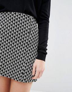 New Look Petite | New Look Petite Jacquard Mini Skirt