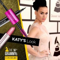 COVERGIRL: Katy Perry went for sexy eyes, elegant lashes, and glowing skin at the #GRAMMYs.    Didn't she look stunning?