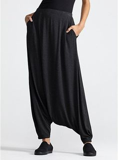 Eileen Fischer Harem Pant in Cozy Viscose Stretch Jersey. This just looks cozy to me.