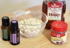 Honey and Oatmeal Facial Scrub. Homemade Face Wash. Exfoliating Face Wash. DIY Honey and Oatmeal.