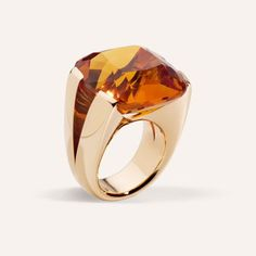 Rose Gold and Citrine ring.Vhernier, Milano