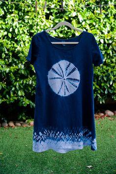 Shibori  A-Line Summer Dress, Center circled - MEDIUM